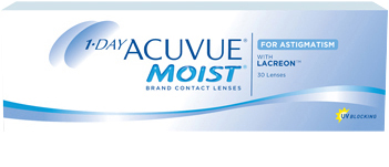 1-DAY ACUVUE® MOIST for ASTIGMATISM product packshot
